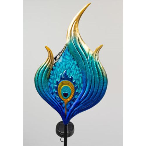 Garden plug blue figure wave with solar