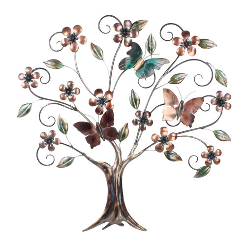 Wall tree 3d with butterflies 77cm