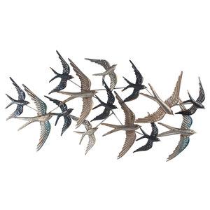 Muurdeco 3d Zwerm Zwaluwen