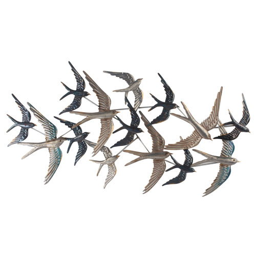 Wall decoration 3d Swarm of Swallows