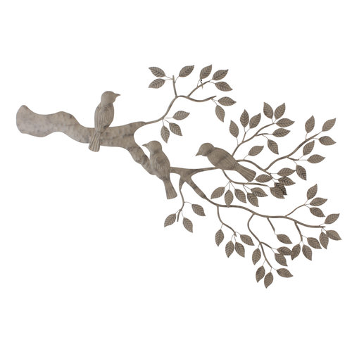 Tree branch with birds wall decor