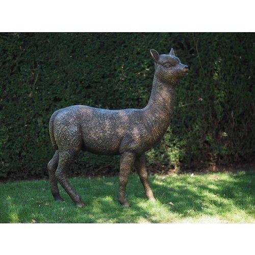 Bronzen alpaca