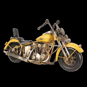 Miniatuur model motor geel