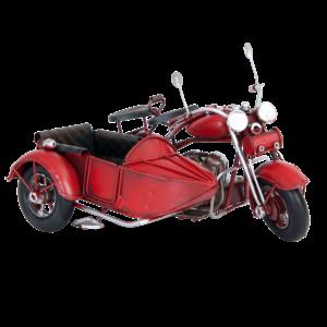 Miniatuurmodel motor met zijspan