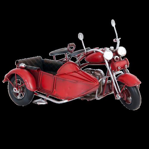 Miniaturmodell Motorrad mit Beiwagen