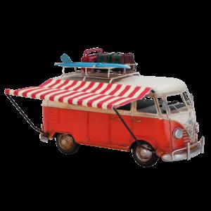 Miniatuurmodel bus met luifel