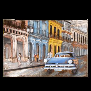 3d schilderij auto 120x80 cm.