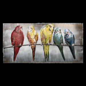 3d schilderij vogels 120x60 cm.