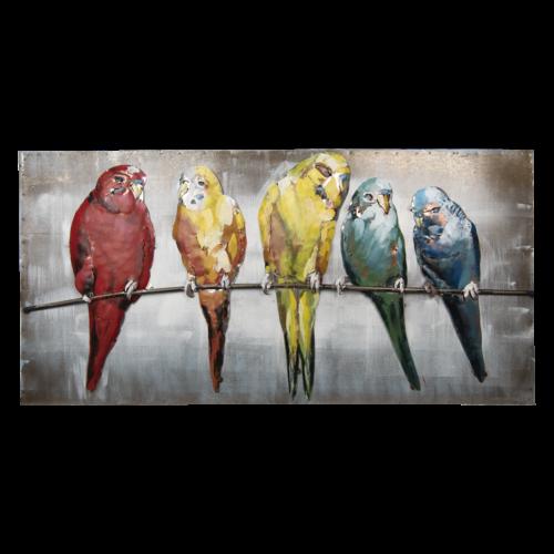 3d painting birds 120x60 cm.