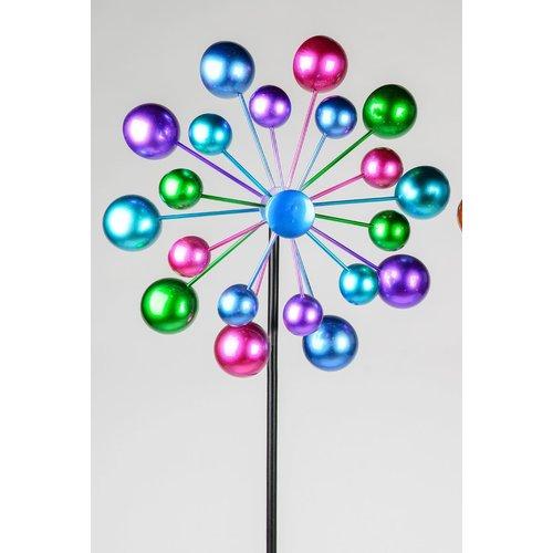 Garden stick round blue-green-pink
