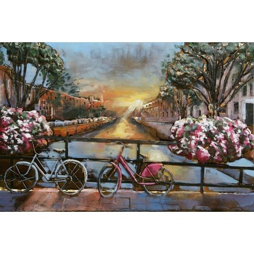 3D painting Bridge with a view
