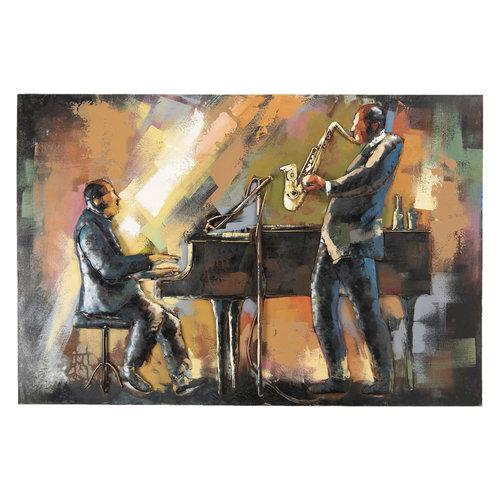 Eliassen Painting metal 3d 80x120cm Musicians