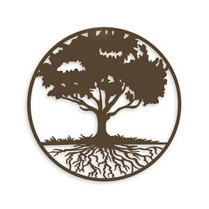 Muurdecoratie rond Tree of life 99cm