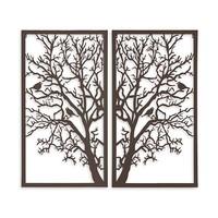 Wanddekoration Diptychon Baum