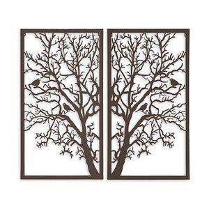 Wanddekoration Diptychonbaum