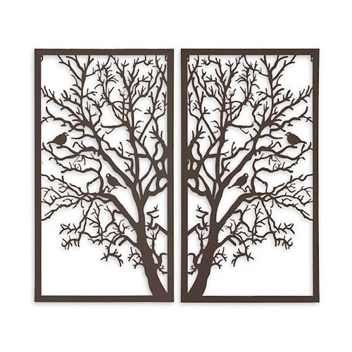 Wall decoration diptych Tree