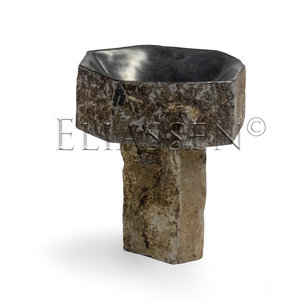 Bird drinking bowl basalt Woodpecker