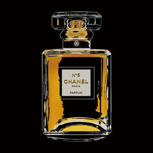 Glasschilderij Chanel No5 80x80cm