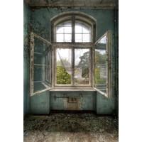 Glasschilderij Open ramen 80x120cm