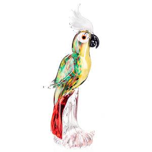 Papagaai van glas Lorre 35cm