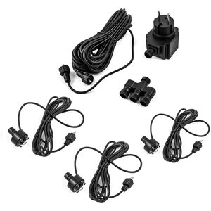 LED set 3-part for water features