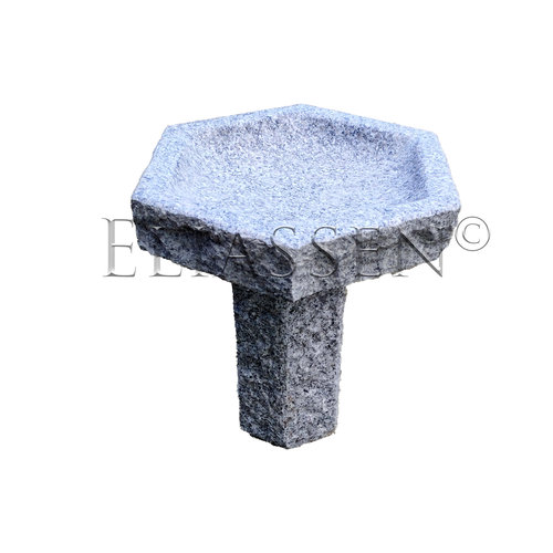 Vogeldrink schaal graniet zeskant Zoë
