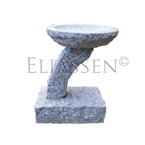 Vogeldrinkschaal graniet  Maartje