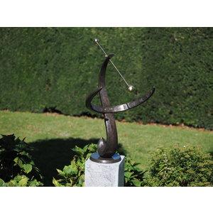 Grote zonnewijzer brons 90cm