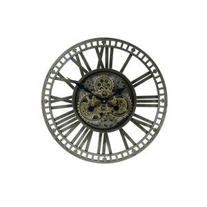 Clock Open dark green 60cm