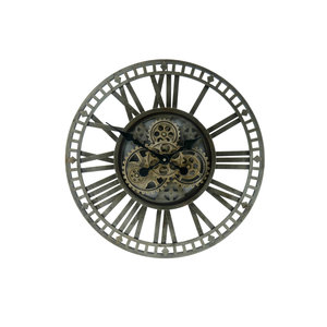 Uhr offen dunkelgrün 60cm