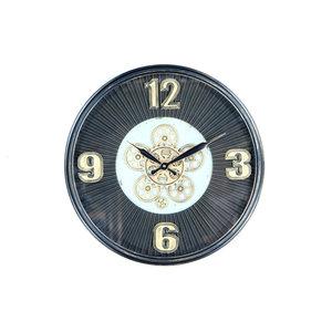 Clock with gears Dark blue 53cm