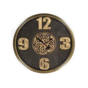 Uhr mit Zahnrädern Dunkelbraun 80cm