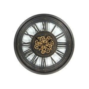 Clock with gears Open black 80cm
