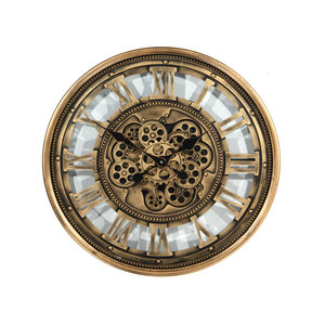 Clock with gears Antique gold 81266