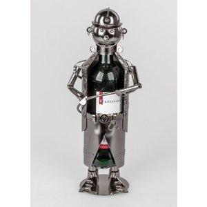 Wijnfleshouder Brandweermennetje