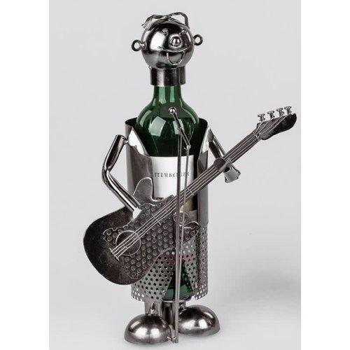 Wine bottle holder Guitarist 2