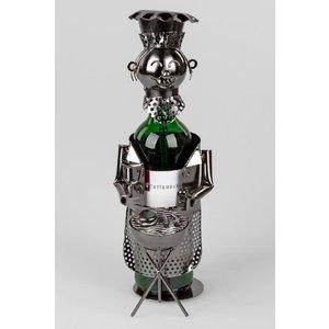Wine bottle holder BBQ owner