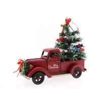Pickup car with Christmas tree