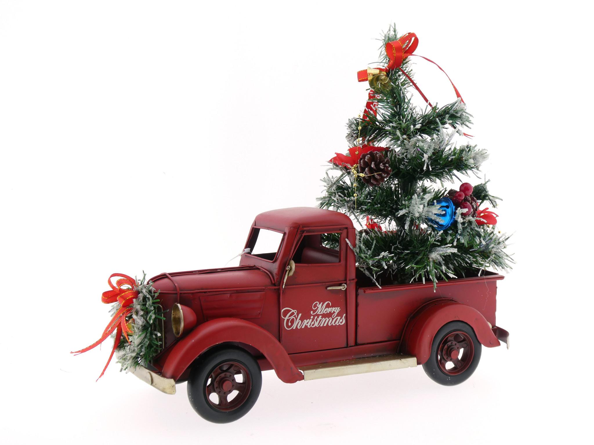 Pickup Auto Met Kerstboom Eliassen Home Garden Pleasure