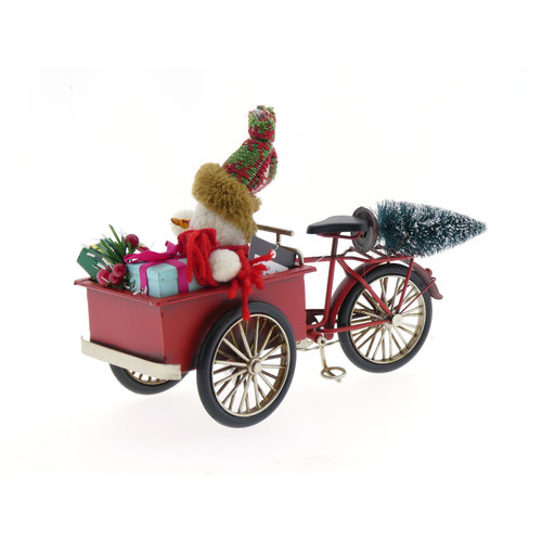 Cargo Bike Miniatur mit Weihnachtssachen
