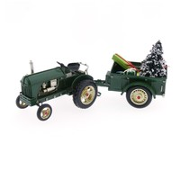 Tractor with cart and Christmas tree
