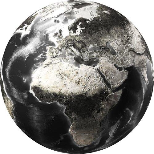 Glasmalerei um die Erde 100 cm Durchmesser