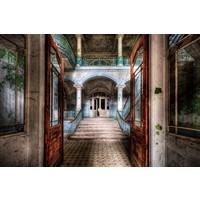 Glasschilderij 80x120 cm Open deuren