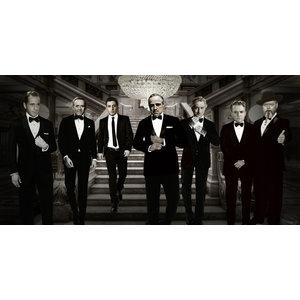 Glasschilderij Famous Men 80x160cm.