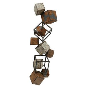 3D metalen muurdecoratie Blokken