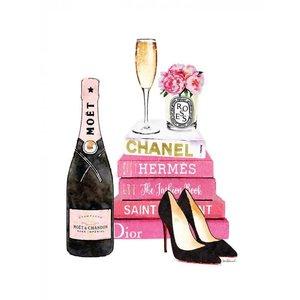 Glasschilderij 60x80 cm. Chanel Pink