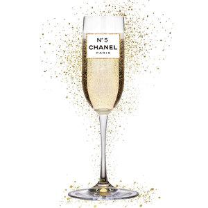Glasschilderij 60x80 cm Chanel No 5