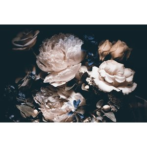 Glasschilderij 80x120 cm.  Flowers