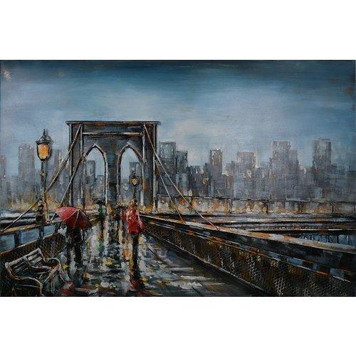 Metalen 3d schilderij Bridge