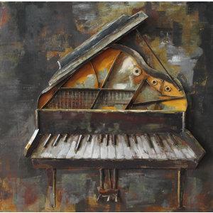 Metalen 3d schilderij Vleugel